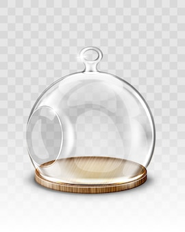 Glass christmas ball, hanging dome with hole