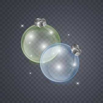Glass christmas toy on a transparent background christmas decorations transparent object