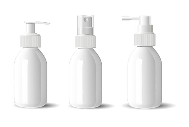Glass cosmetic bottle dispenser spray pump set