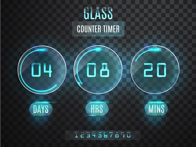 ガラスカウンタータイマー。 t