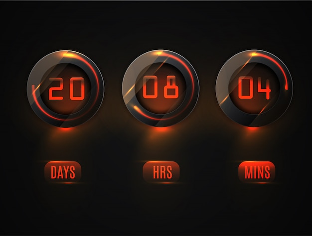Glass counter timer.