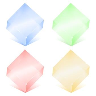 Стеклянные кубики