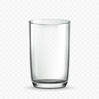Glass cup for drinking milk or water drink vector