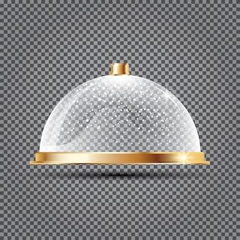 Стеклянный купол со снегом на прозрачном фоне