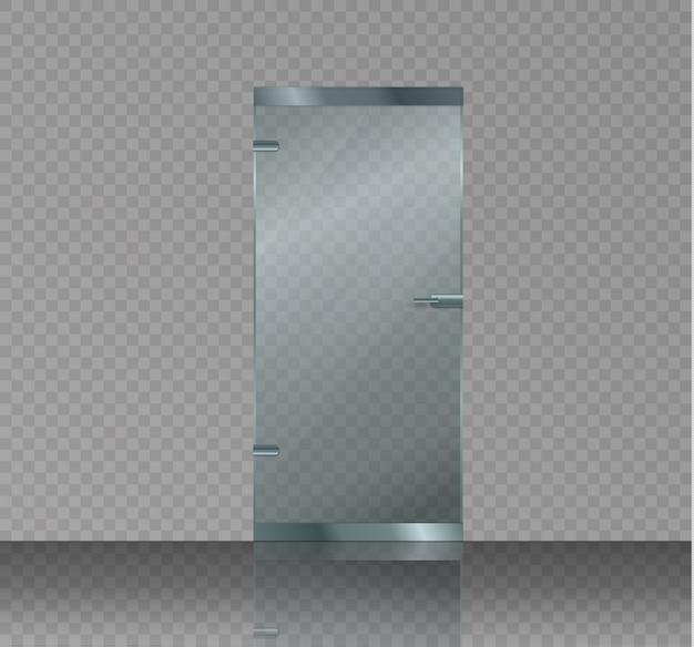 Стеклянная дверь изолирована
