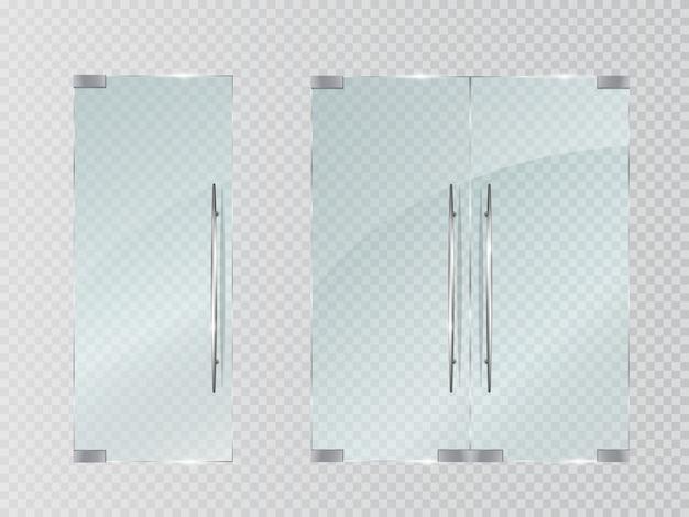 Стеклянные двери прозрачные