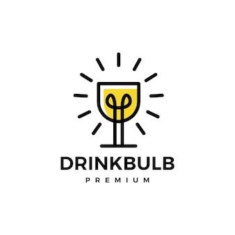 유리 음료 전구 아이디어 스마트 로고
