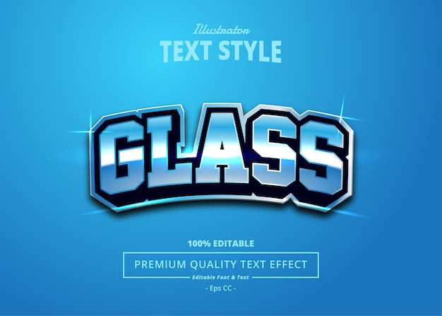 Glass editable text effect