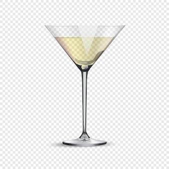 透明な背景に分離された炭酸飲料やアルコール飲料用のガラス。