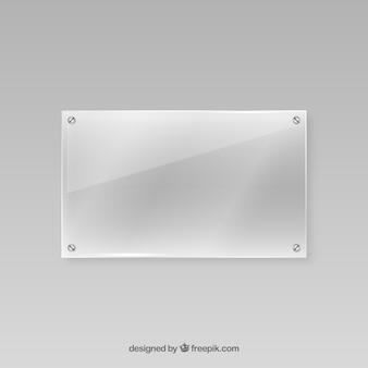 現実的なスタイルのガラスフレーム