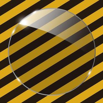 グランジストライプcunstruction背景ベクトル病気のガラスフレーム