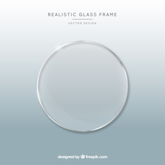 Glass frame in realistic style