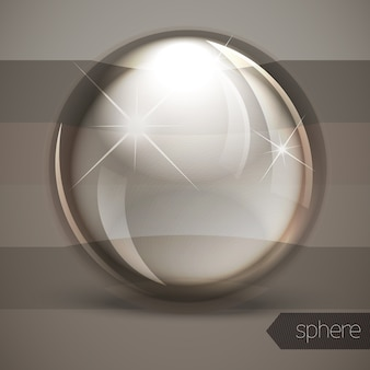 Glass glossy sphere