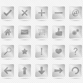 Стеклянные иконки