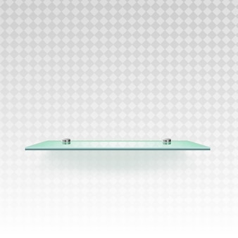 展示ベクトルイラストのガラス分離空棚