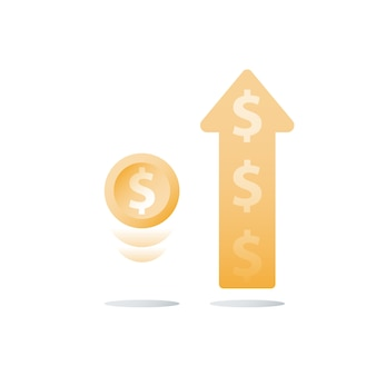 Стеклянная банка и монеты иллюстрации