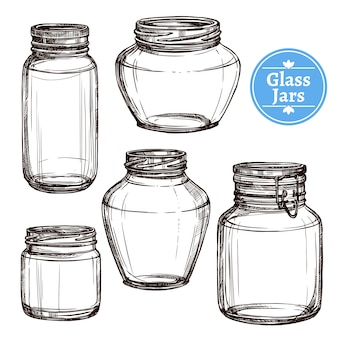 Glass jars set
