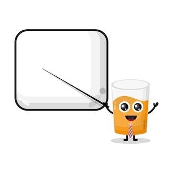 ガラス汁が先生かわいいキャラクターマスコットになります