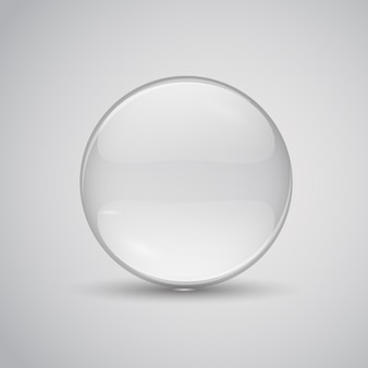 Glass lens illustration. transparent flat glass.