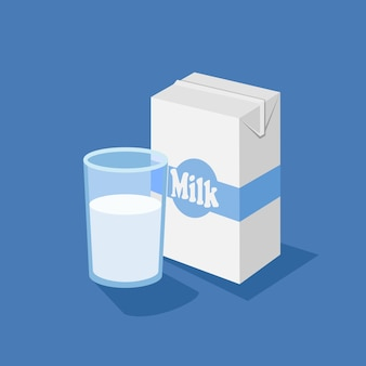 Glass and milk box