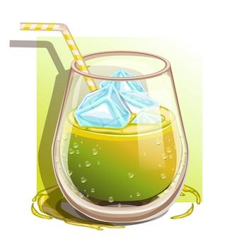 100%アボカドジュースのグラス