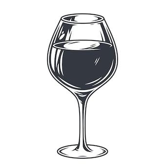 레드 와인 알코올 액체 벡터 흑백 칵테일 바 메뉴의 유리