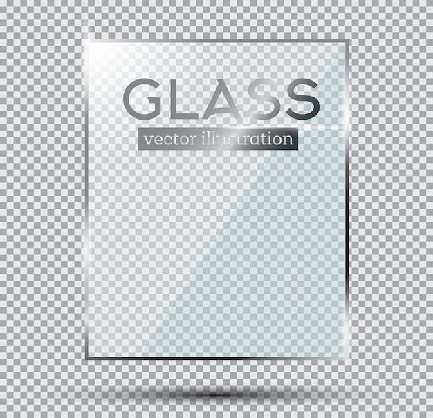 Стеклянная пластина, изолированных на прозрачном фоне.