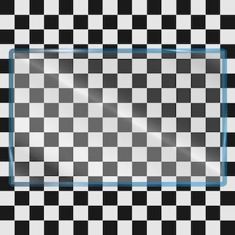 Стеклянная пластина на прозрачном фоне. акриловая и стеклянная текстура с бликами и светом. вектор