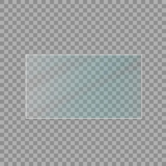 Glass plates set. glass banners on transparent background. flat glass. vector illustration