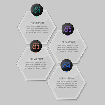 Glass plates set, infographic.