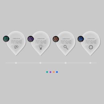 Glass plates set, infographic .