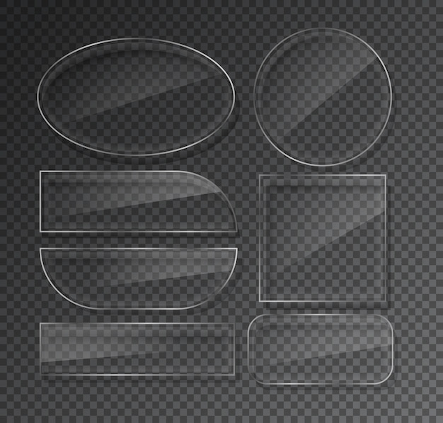 Glass plates set on transparent