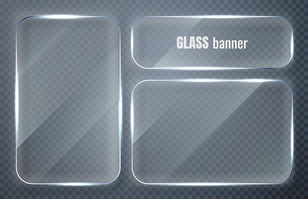 ガラスプレートセット。