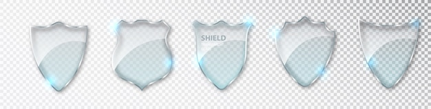 Glass shields set.