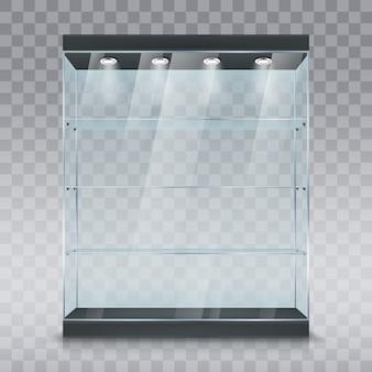 Glass showcase display cabinet mockup