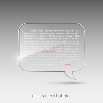 Glass speech bubble illustration.