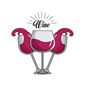 Glass splashing wine icon