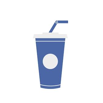 Glass straw soda