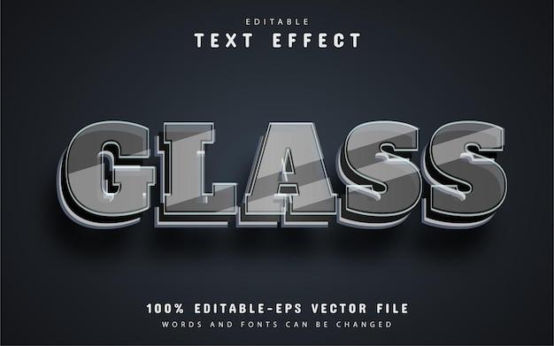 Glass text, editable text effect