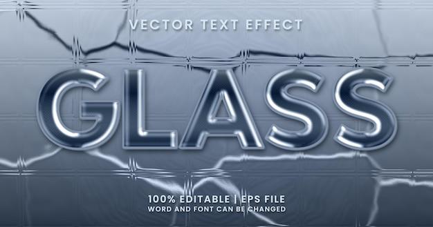ガラステキスト、光沢のある編集可能なテキスト効果テンプレート