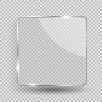 Glass transparency frame