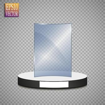 Glass trophy award concept illustration