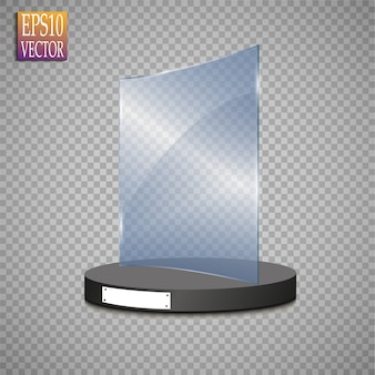 Glass trophy award. 삽화.