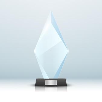 Стеклянный трофей изолированных иллюстрация