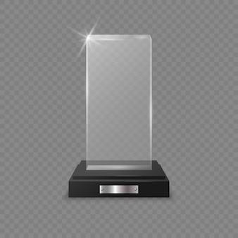 Glass trophy award