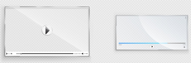 Glassビデオプレーヤーインターフェイス、透明なウィンドウ