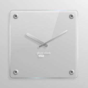 ガラス製壁掛け時計