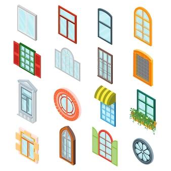 Стеклянные окна установить изометрический вид.