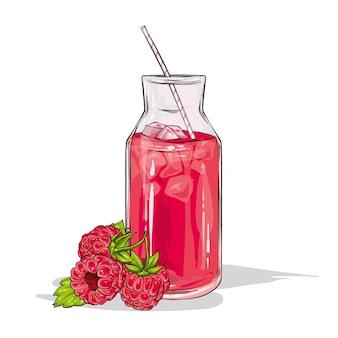 玻璃用在白色背景隔绝的莓圆滑的人