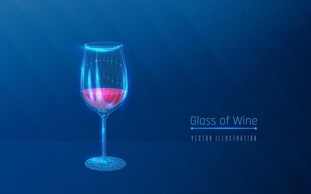 프레임 스타일의 레드 와인을 곁들인 유리